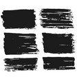 ink brush strokes set paint spots hand made vector image vector image