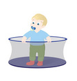 kid in playpen vector image vector image