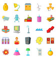 luminary icons set cartoon style vector image vector image