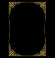 luxurious golden frame in art deco style rich vector image vector image