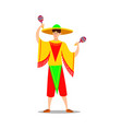 man musician in bright national costume playing vector image vector image