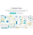 modern line flat design Promotion concept vector image vector image