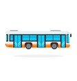municipal bus flat material design isolated vector image vector image