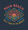palm beach best tour in the world vector image