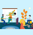 people in office working and business meeting or vector image