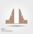 pura lempuyang temple flat icon indonesian vector image vector image