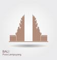 pura lempuyang temple flat icon indonesian