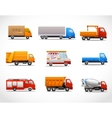 Realistic Truck Icons vector image vector image