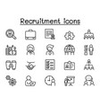 recruitment icons set in thin line style vector image