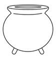 retro cauldron icon outline style vector image vector image