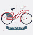 Retro Ride Poster with a Bicycle vector image vector image