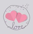 romantic valentine hearts vector image