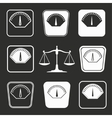 Scale icon set vector image vector image