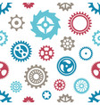 seamless gear wheels pattern on white vector image