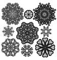 set circle lace 2 380 vector image vector image