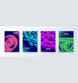 set cover design with abstract gradient shapes vector image vector image
