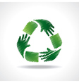 Sketched recycle icon of hand vector image