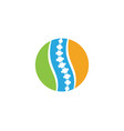 spine diagnostics symbol logo template vector image vector image