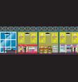 supermarket interior in vector image