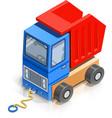 truck wooden toy vector image vector image