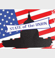 washington state of the union vector image