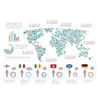 world people infographics human infographic on vector image vector image