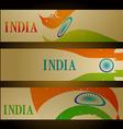 set of indian flag headers vector image