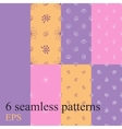 Set seamless pattern for decoration vector image