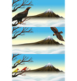 Wild birds on the branch vector image