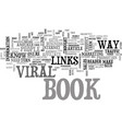 a look at viral e books text word cloud concept vector image vector image