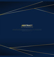 abstract polygonal pattern luxury on dark blue vector image vector image
