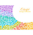 background with colorful spots and sprays on a vector image vector image