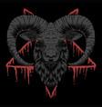 baphomet satanic head vector image vector image