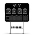 baseball scoreboard vector image vector image