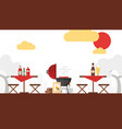 bbq picnic grilling outdoor vector image