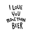 beer lettring vector image vector image