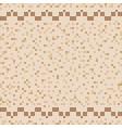 beige ceramic tile mosaic in swimming pool vector image vector image