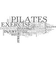 benefits of pilates text word cloud concept vector image vector image