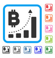 bitcoin bar chart positive trend framed icon vector image vector image