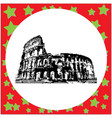 black 8-bit colosseum in rome italy vector image vector image