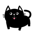 black cat icon cute funny cartoon smiling vector image vector image