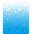 blue background with white snowflakes vector image vector image