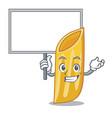 bring board penne pasta character cartoon vector image vector image