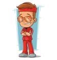Cartoon cool sportsman in sunglasses vector image vector image