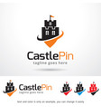 castle logo template vector image