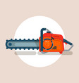 chainsaw icon chain saw pictograph icon vector image