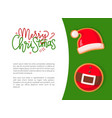 christmas gingerbread of santa hat and belt vector image vector image