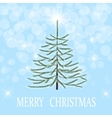 Christmas greeting card Herringbone in frost on a vector image vector image