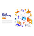 cloud computing modern flat design isometric vector image
