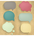 Color Cardboard Structure Speech Bubble vector image vector image